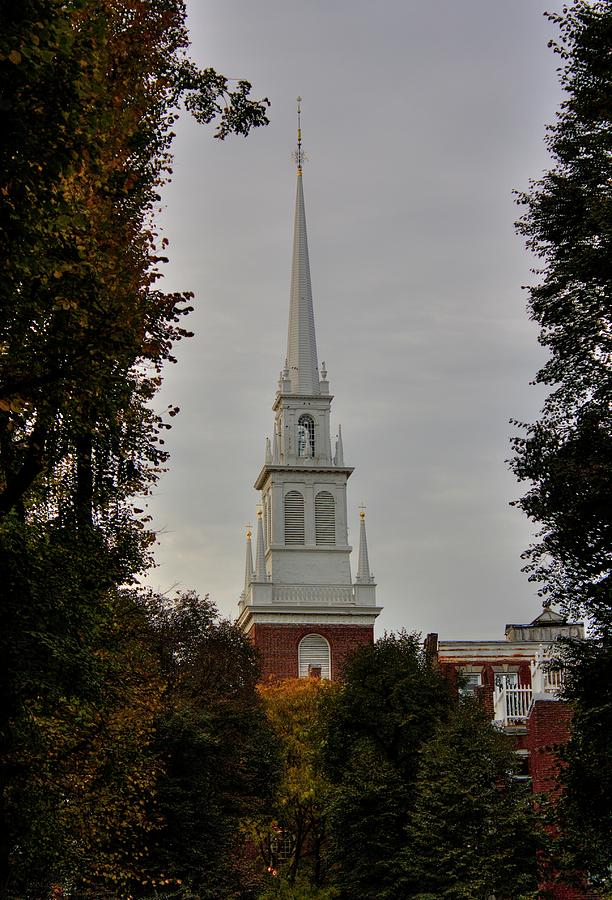 Old North Church Photograph - Old North Church by Greg DeBeck
