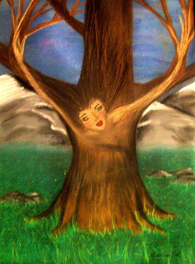 Pastel Pastel - Old Oak Tree by Misty VanPool