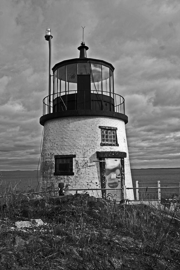Seascape Photograph - Old Owls Head Lighthouse by Doug Mills