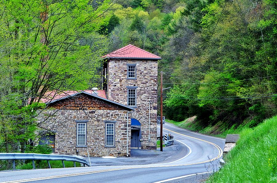 Old Mill Photograph - Old Paint Mill Spring Time by Stephanie Calhoun