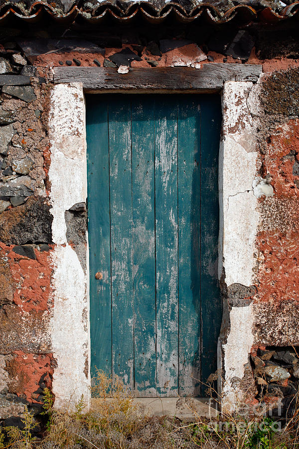 Abandoned Photograph - Old Painted Door by Gaspar Avila
