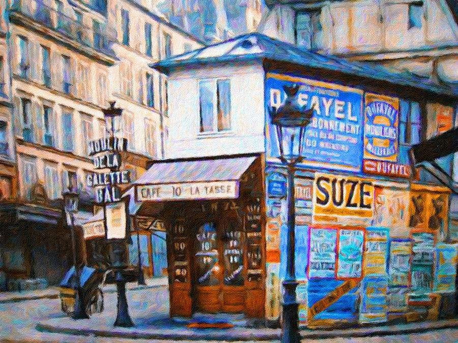 Old Paris Cafe Painting by Vincent Monozlay