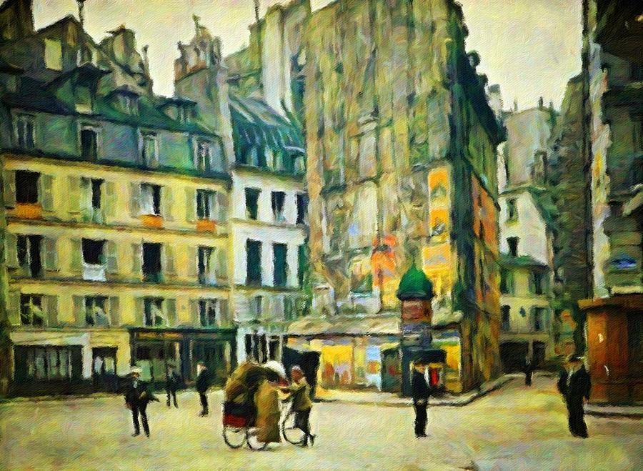 Paris Painting - Old Paris by Vincent Monozlay