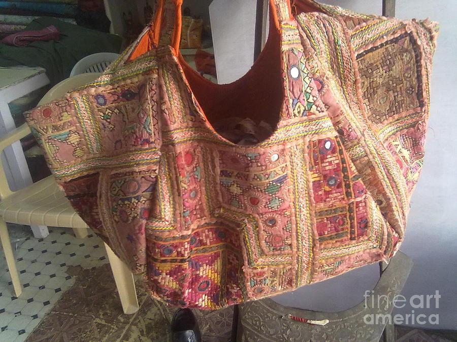 Ethanic Bag Tapestry - Textile - Old Patchwork Bag by Dinesh Rathi
