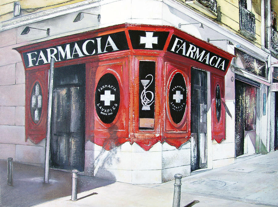 Pharmacy Painting - Old Pharmacy by Tomas Castano