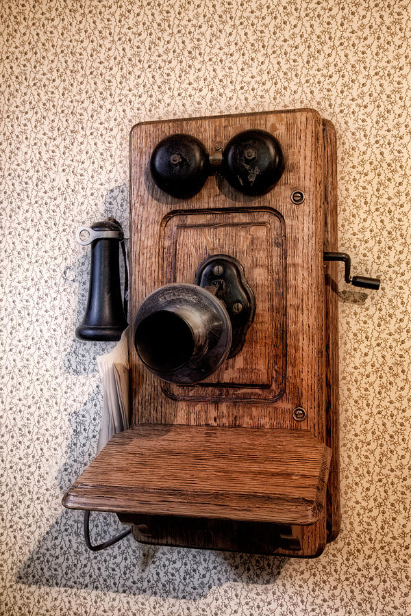 Old Phone, Old House Photograph by Brenda Tharp