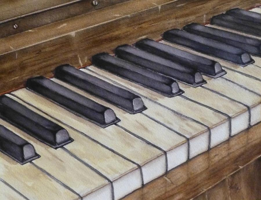 Old Piano Keys by Kelly Mills