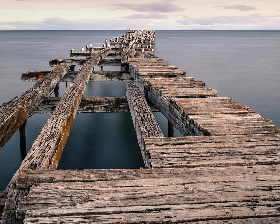 Old pier in Punta Arenas by Dalibor Hanzal
