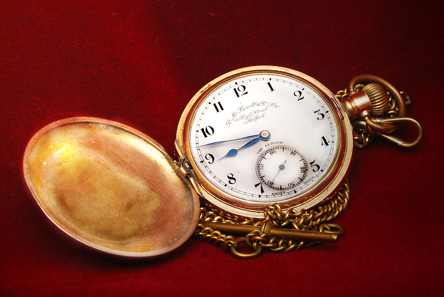 Old Pocket Watch Photograph by Peter Jenkins