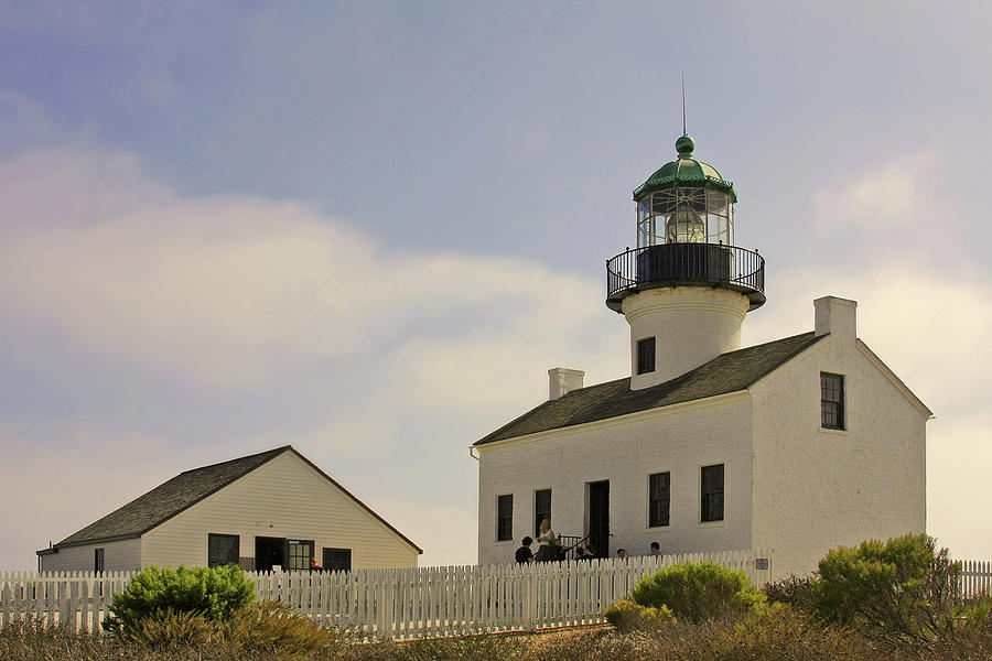 Old Point Loma Lighthouse Photograph - Old Point Loma Lighthouse - Cabrillo National Monument San Diego Ca by Christine Till