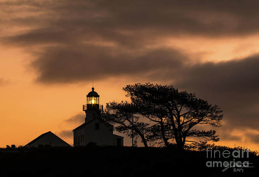 Old Point Loma Lighthouse At Twilight Photograph by Jeffrey Stone