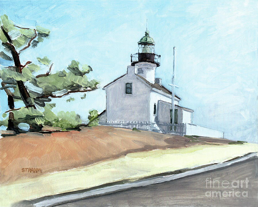 Old Point Loma Lighthouse San Diego by Paul Strahm