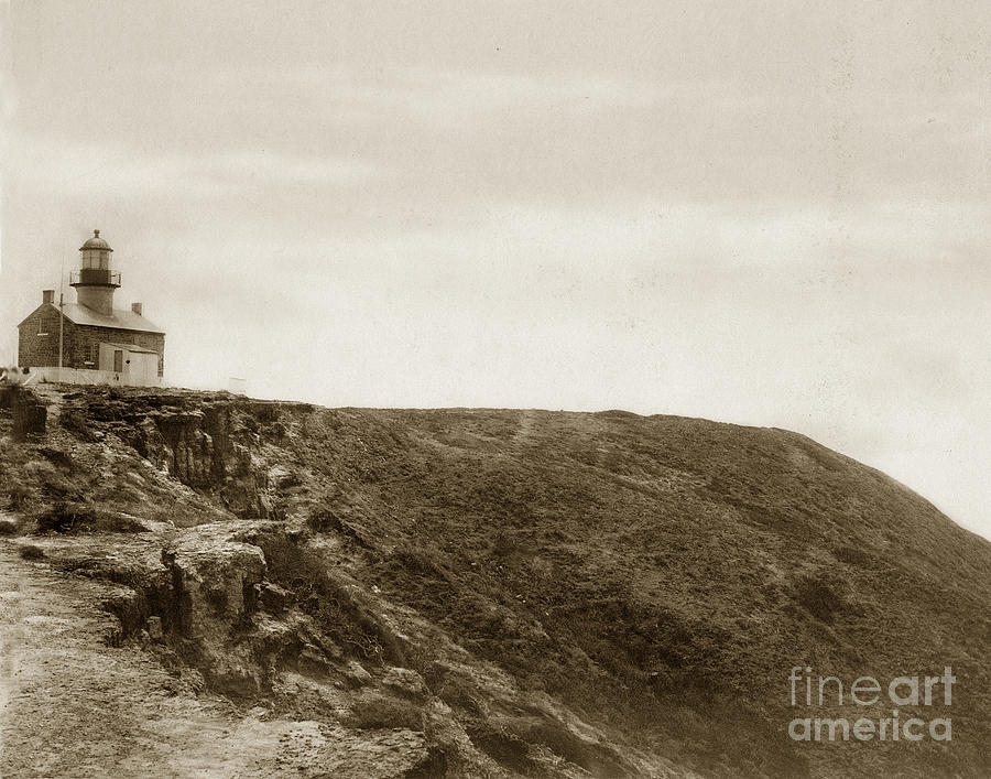 Old Point Loma Lighthouse San Diego Circa 1872 Photograph