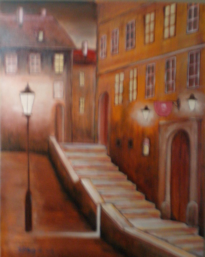 Painting Painting - old Prague by Jan Paulus-maly