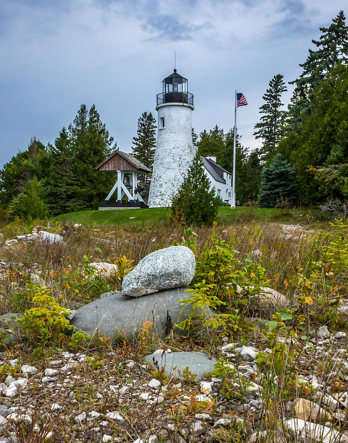 Lighthouse Photograph - Old Presque Isle Lighthouse by Kimberly Kotzian