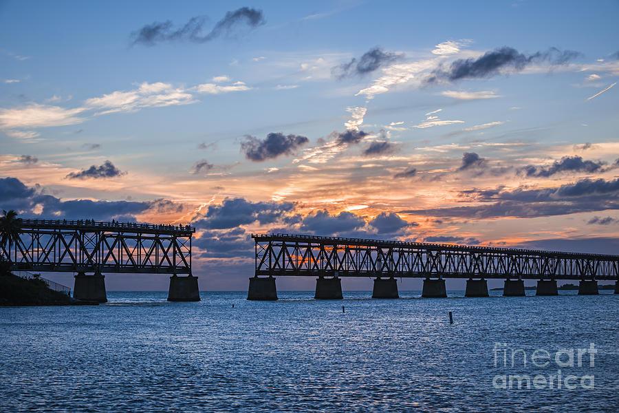 Florida Keys Photograph - Old Rail Bridge At Florida Keys by Elena Elisseeva