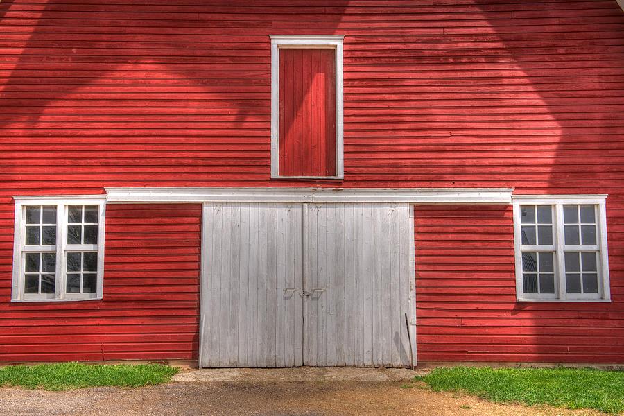 Red Barn Photograph - Old Red Barn Iowa  by Shane Mossman