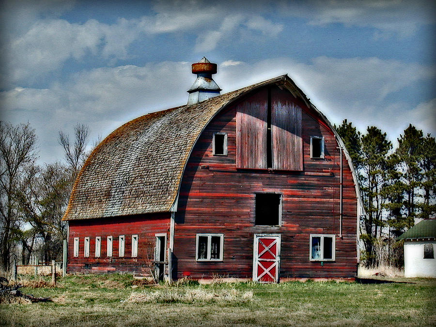 Old red barn with cupola photograph by laurie with for Country cupola