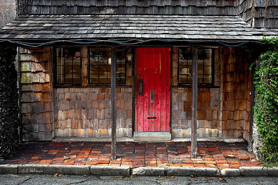 Door Photograph - Old Red Door by Christopher Holmes