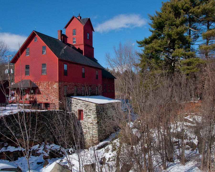 Old Mill Photograph - Old Red Mill - Jericho, Vt. by Joann Vitali
