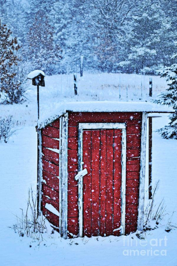 Old Red Outhouse by Becky Kurth