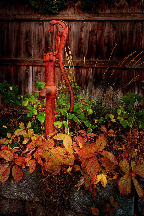 Old Red Pump by K Powers Photography