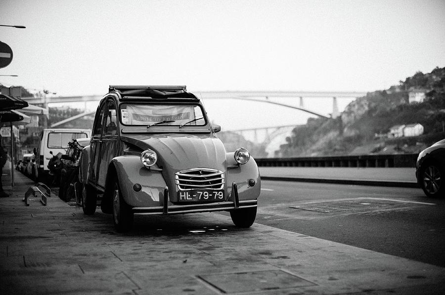 Car Photograph - Old Retro Car Citroen On The Street by Maksym Kaharlytskyi