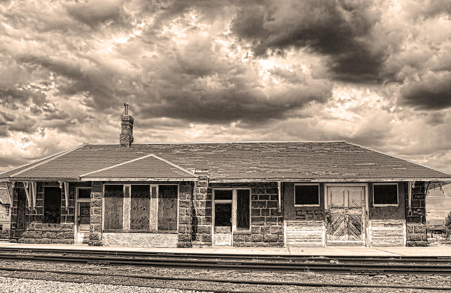 Old Photograph - Old Rio Grande Train Stop by James BO  Insogna