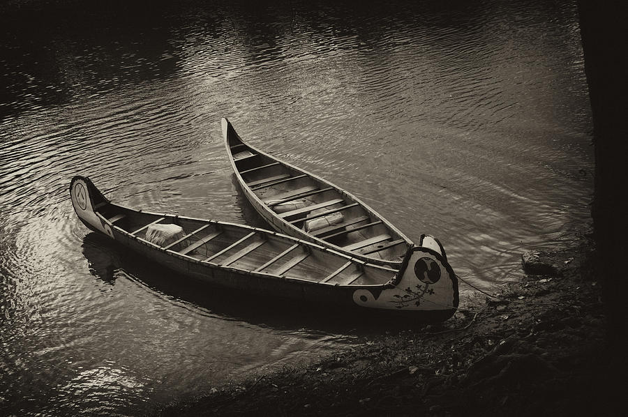 Canoe Photograph - Old River by Off The Beaten Path Photography - Andrew Alexander