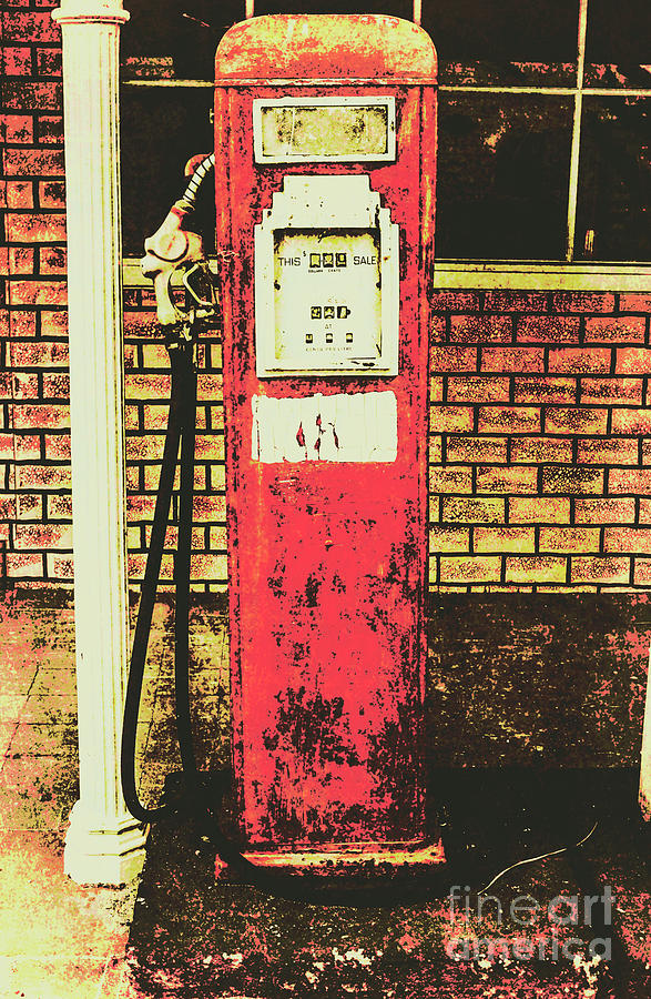 Petrol Photograph - Old Roadhouse Gas Station by Jorgo Photography - Wall Art Gallery