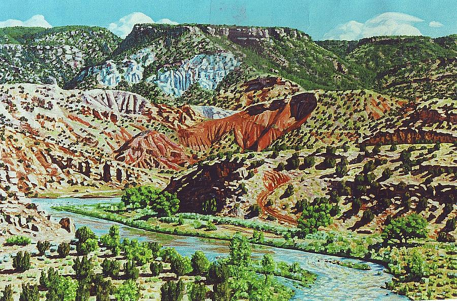 Oil Painting - Old Roads To Chama by Allen Kerns
