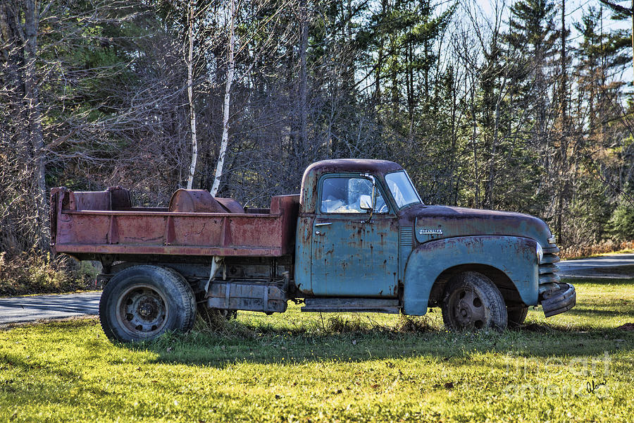 Old Rusty Chevrolet Dump Truck Photograph by Alana Ranney