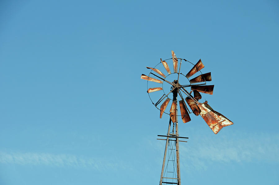 Windmill Photograph - Old Rusty by David Arment