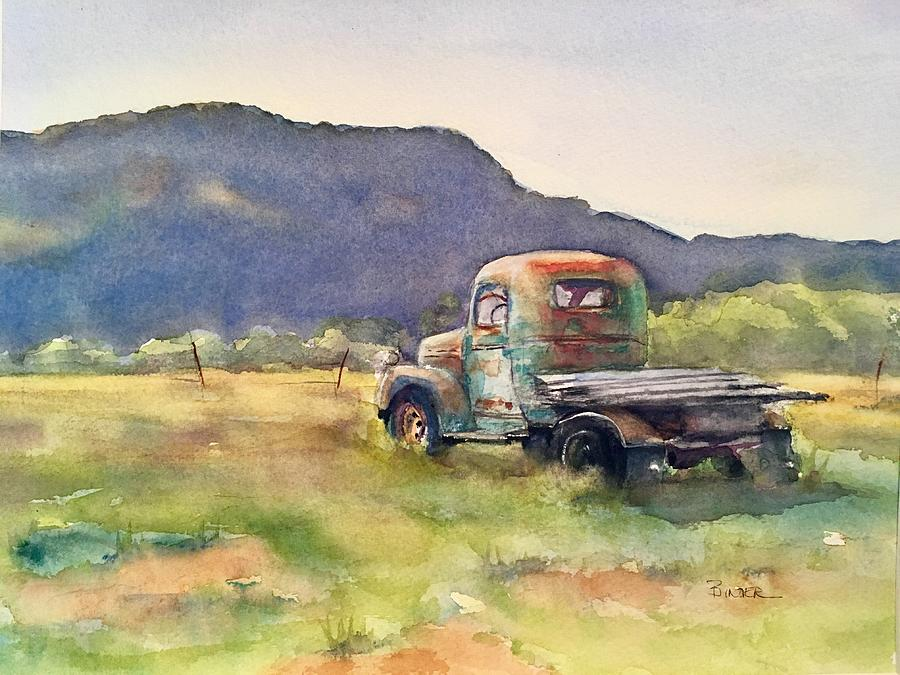 Taos Painting - Old Rusty by Diane Binder