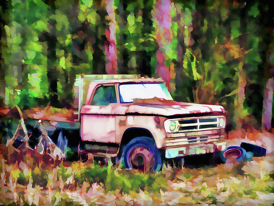 Lada Painting - Old Rusty Truck by Lanjee Chee