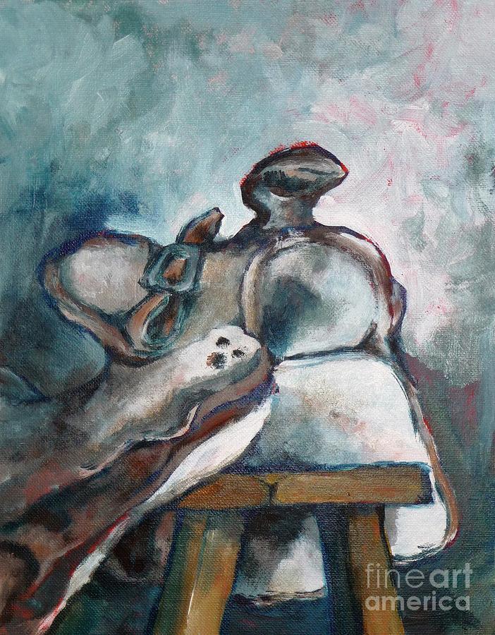 Old Saddle by CHERYL EMERSON ADAMS