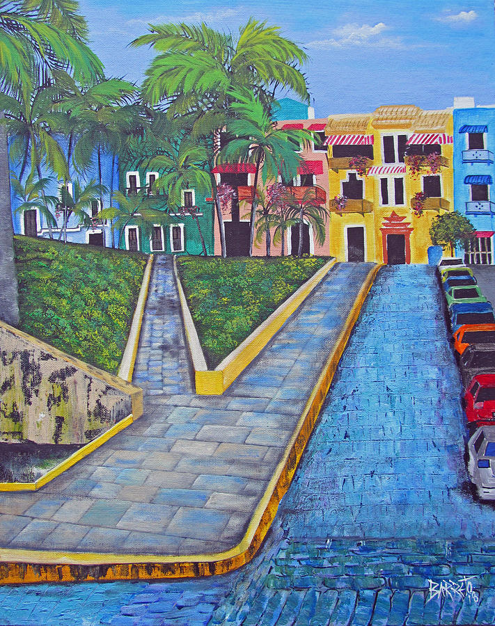 Old San Juan by Gloria E Barreto-Rodriguez
