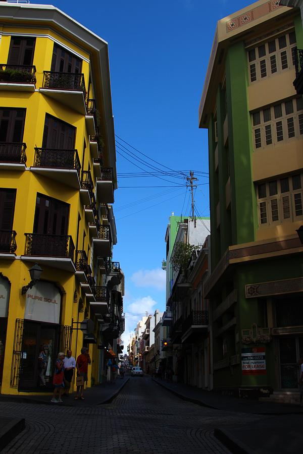 Old San Juan Puerto Rico Downtown On The Corner Photograph by Robert Smith