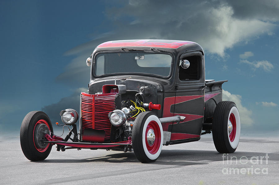 Old School Hot Rod Pickup I Photograph by Dave Koontz