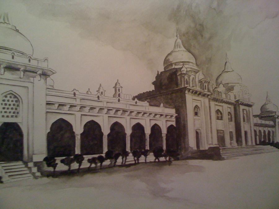School Painting - Old School by Zedi Qureshi