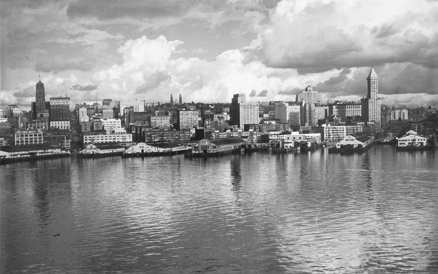 Seattle Photograph - Old Seattle 1949 by USACE-Public Domain