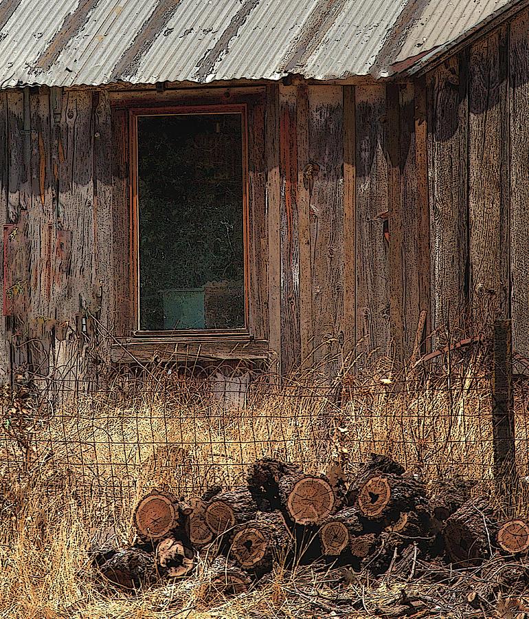 Old Settler's Cabin by Floyd Hopper