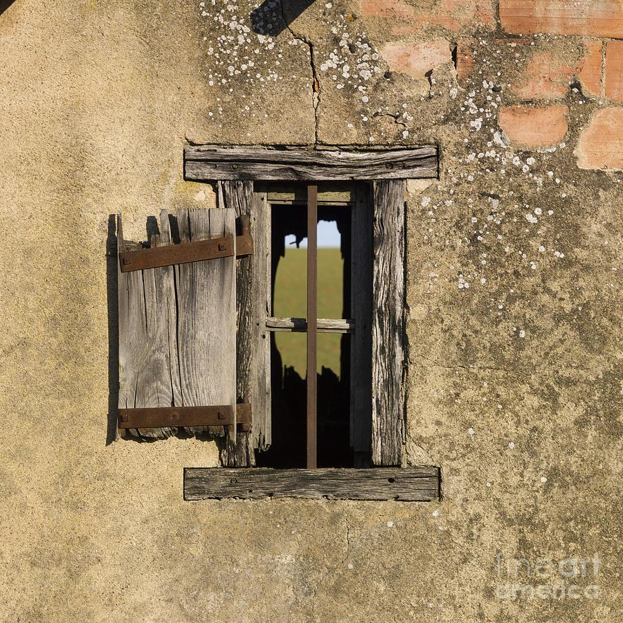 Window Photograph - Old Shack by Bernard Jaubert