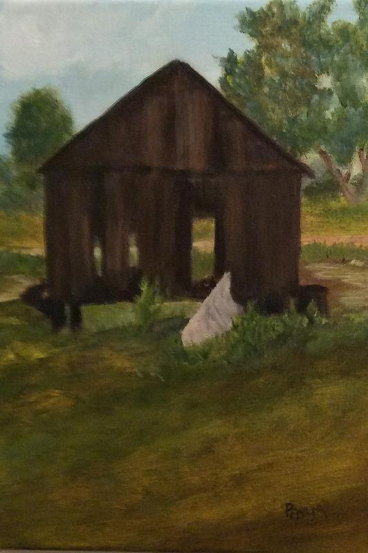 Old Shed Painting