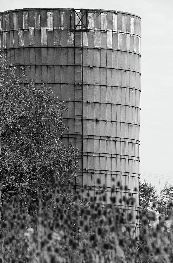 Silo Photograph - Old Silo Bw by Mary Bedy