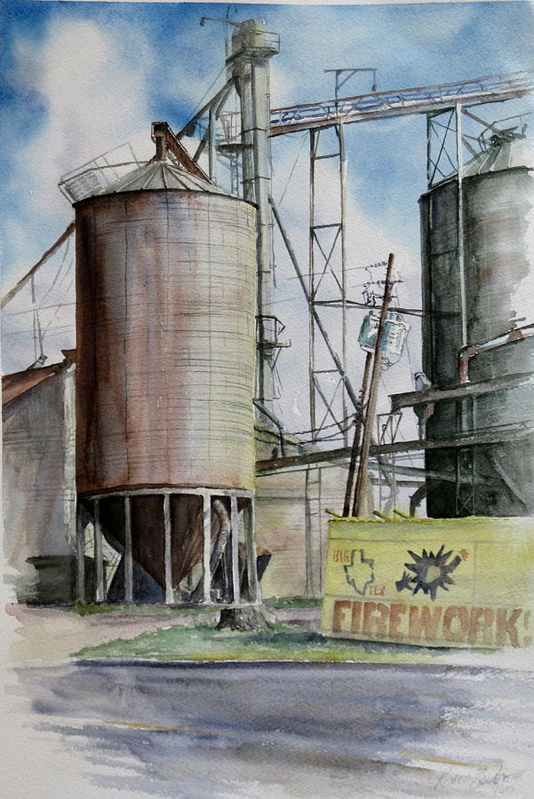 Silo Painting - Old Silo by Karen Boudreaux
