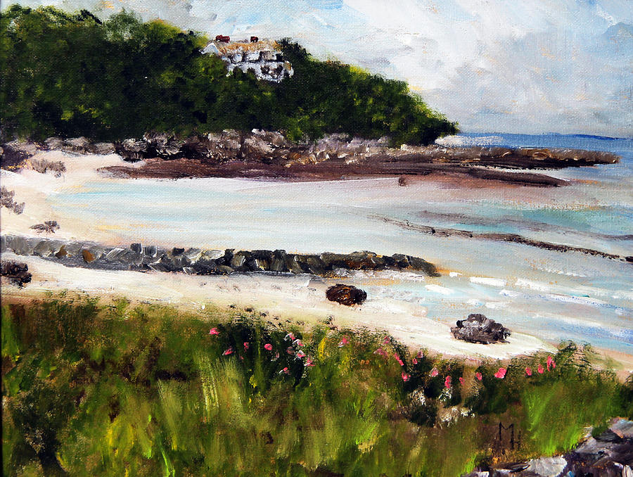 Cape Cod Painting - Old Silver Beach Falmouth by Michael Helfen