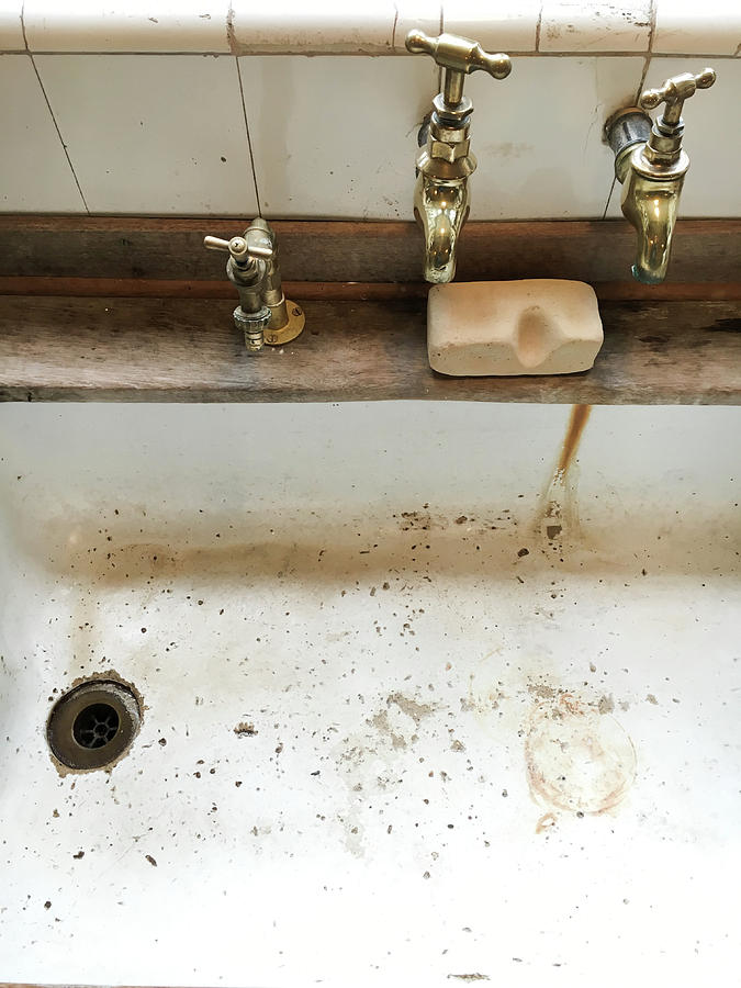 Antique Photograph - Old Sink by Tom Gowanlock