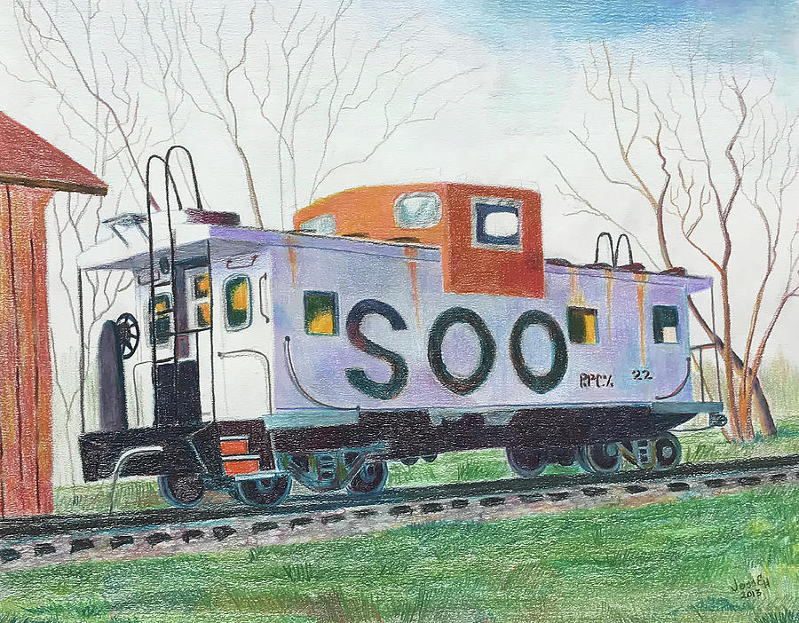 Old Soo Caboose by Jess E Hooper