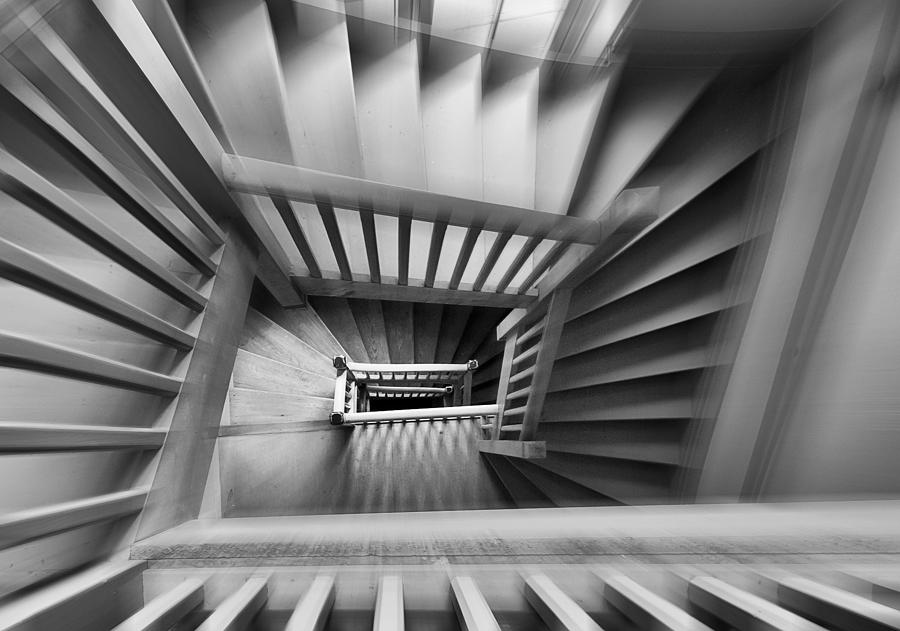 Staircase Photograph - Old Staircase by Henk Van Maastricht